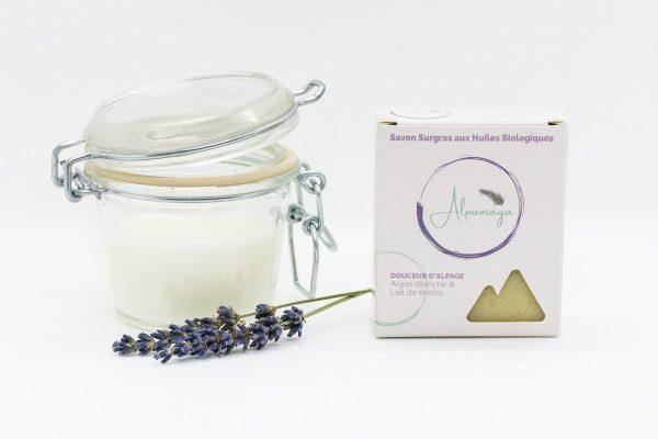 savon douceur d'alpage savon à froid au lait de brebis
